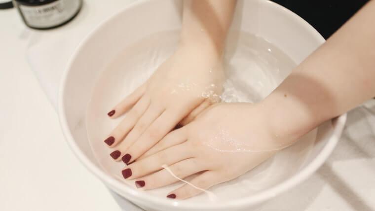 DUOクレンジングバームを使う時は手を濡らさない